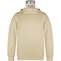 Sand Hooded Gildan 7.75 oz with school logo