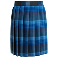 Douglas Plaid Knife Pleated Skirt