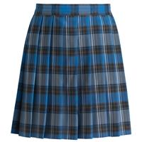 OO Plaid Knife Pleated Skirt
