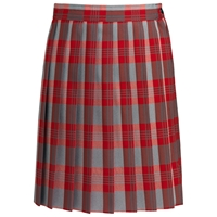 Victoria Plaid Knife Pleated Skirt