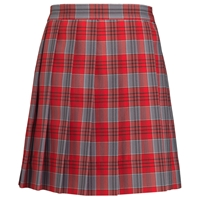 Fairmont Plaid Long Sleeve Knife Pleated Skirt