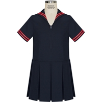 Navy Sailor Dress with School Logo