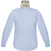 Blue Long Sleeve Girls Oxfordcloth Shirt