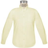 Girls Yellow Oxford Cloth Long Sleeve
