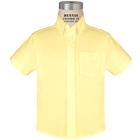 Yellow Short Sleeve Oxford Cloth Shirt