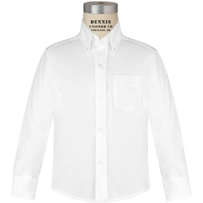 White Long Sleeve Oxfordcloth Shirt