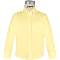 Yellow Long Sleeve Oxford Cloth Shirt
