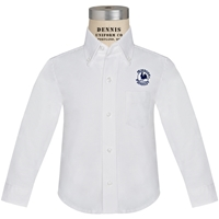 White Long Sleeve Oxford Cloth Shirt with Primrose logo