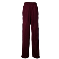 Maroon Warm Up Pants with School Logo