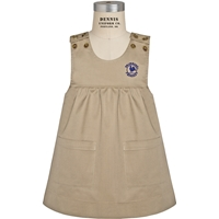 Khaki Smock Jumper with School logo