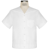White Middy Blouse with School Logo