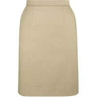 Khaki Stretch Junior Straight Skirt