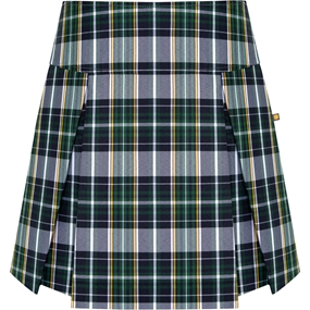 Christopher Plaid Pleated Skort