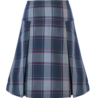 Dunbar Plaid Drop Yoke Pleated Skort