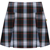 Lloyd Plaid Drop Yoke Pleated Skort