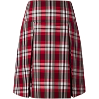 McDonald Plaid Drop Yoke Pleated Skort