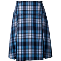 RR Plaid Drop Yoke Pleated Skort