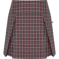 MM Plaid Pleated Skort