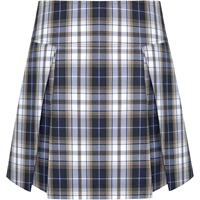 Langley Plaid Drop Yoke Pleated Skort