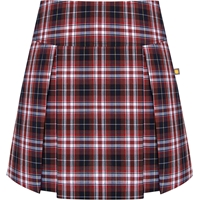 Ridgeland Plaid Pleated Skort