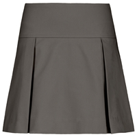 Grey Drop Yoke Pleated Skort