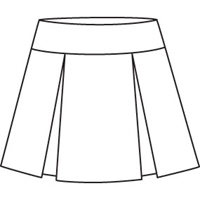 Khaki Drop Yoke Pleated Skort