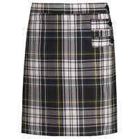 Carden Plaid Double Tab Pleated Skort