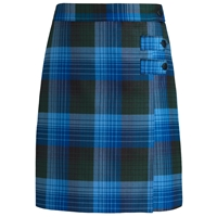 Douglas Plaid Double Tab Pleated Skort