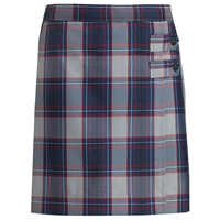 Dunbar Plaid Double Tab Pleated Skort