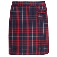Hamilton Plaid Double Tab Pleated Skort