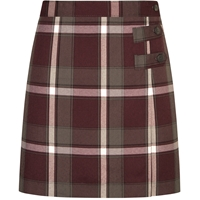 James Plaid Double Tab Pleated Skort