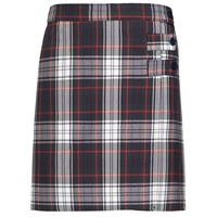 Lloyd Plaid Double Tab Pleated Skort
