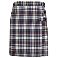 Marymount Plaid Double Tab Pleated Skort