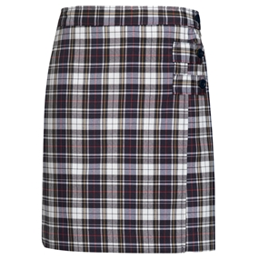 Marymount Plaid Skort With Tabs