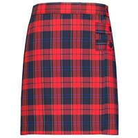 Woodland Plaid Double Tab Pleated Skort