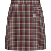 MM Plaid Double Tab Pleated Skort