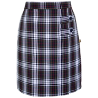 Patricia Plaid Skort With Tabs