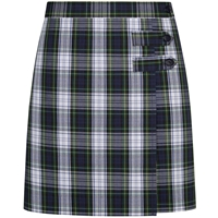 Belmont Plaid Double Tab Pleated Skort