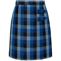 Hastings Plaid Double Tab Pleated Skort