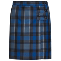 OO Plaid Double Tab Pleated Skort