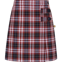 Ridgeland Plaid Double Tab Pleated Skort
