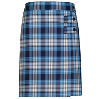 RR Plaid Double Tab Pleated Skort