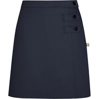 Navy Double Tab Pleated Skort with School Logo