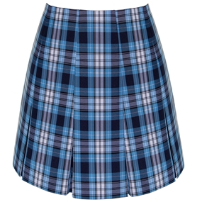 RR Plaid Pleated Skirt