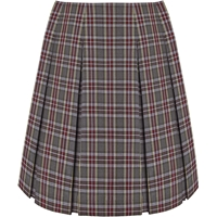MM Plaid Pleated Skirt