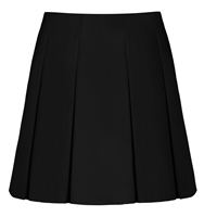 Black Tropical Pleated Skirt