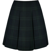 Blackwatch Plaid Pleated Skirt