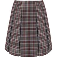 MM Plaid Pleated Skirt