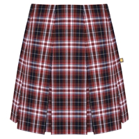Ridgeland Plaid Pleated Skirt