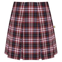 Ridgeland Plaid Pleated Skirt